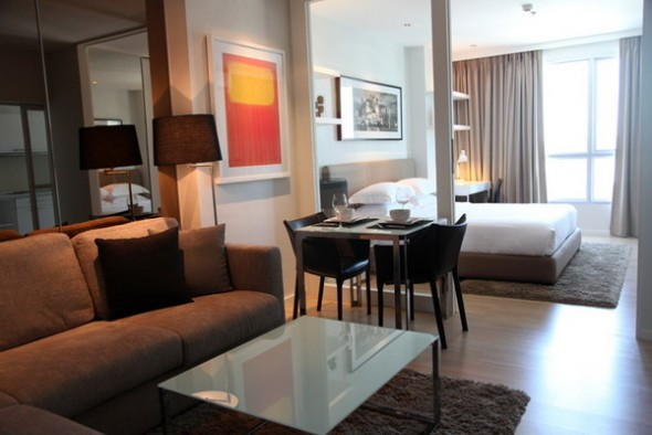BKKMOVE Agency's 41sqm High Rise, Tasteful One Bedroom Condo for rent at Life Sathorn 10 5