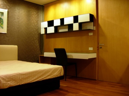 BKKMOVE Agency's 98sqm Elegant, High Rise Two Bedrooms Condo for rent at Amanta Lumpini 1