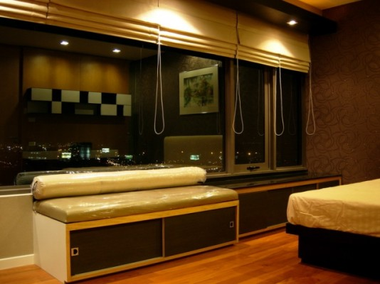 BKKMOVE Agency's 98sqm Elegant, High Rise Two Bedrooms Condo for rent at Amanta Lumpini 10