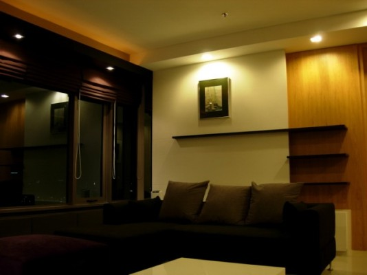 BKKMOVE Agency's 98sqm Elegant, High Rise Two Bedrooms Condo for rent at Amanta Lumpini 4