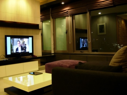 BKKMOVE Agency's 98sqm Elegant, High Rise Two Bedrooms Condo for rent at Amanta Lumpini 5