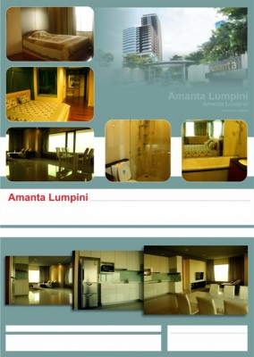 BKKMOVE Agency's 120.82sqm Modern, Luxury Two Bedrooms Condo for rent at Amanta Lumpini 1