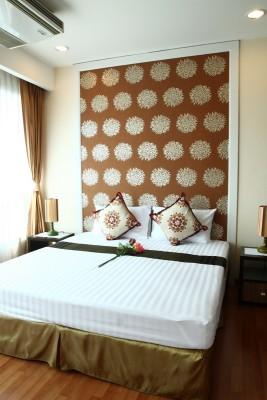 BKKMOVE Agency's 50sqm Convenient, Cozy One Bedroom Apartment to let at Sarin Suites Sukhumvit Bangkok 6