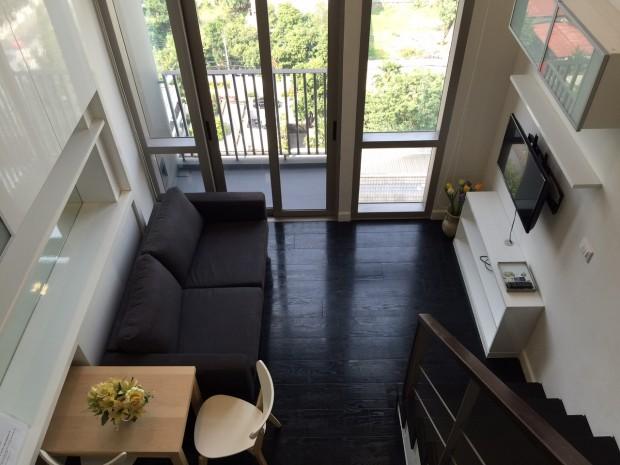 BKKMOVE Agency's 35sqm Cozy, Duplex Studio Condo to let at Ideo Morph 10