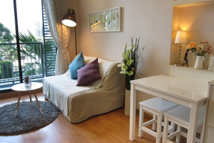 BKKMOVE Agency's 30sqm Cozy, High Rise One Bedroom Apartment to let at Q House Sukhumvit 79 2