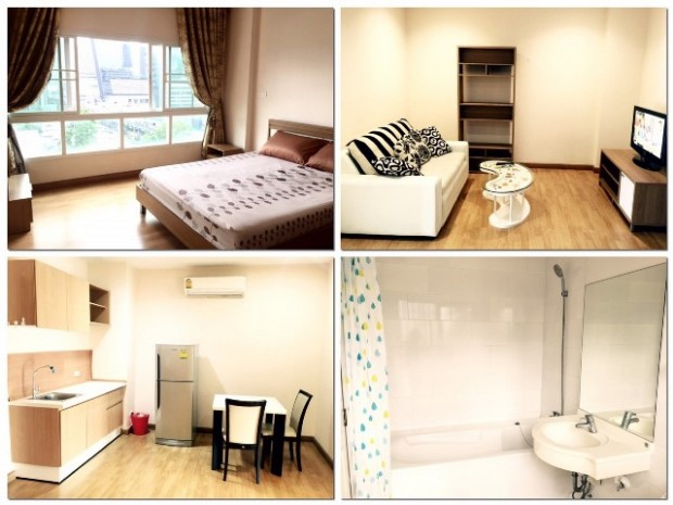 BKKMOVE Agency's 41sqm Convenient, Well price One Bedroom Flat to let at PG Rama 9 1