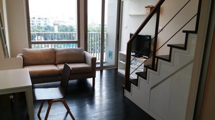 BKKMOVE Agency's 38sqm Private, Lovely Studio Duplex Condo for rent at Ideo Morph Sukhumvit 38 2