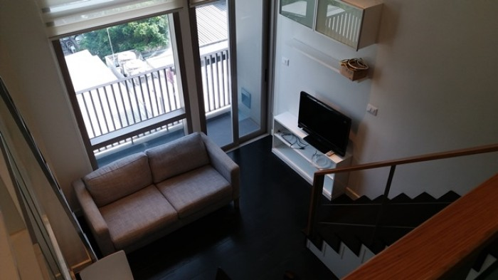 BKKMOVE Agency's 38sqm Private, Lovely Studio Duplex Condo for rent at Ideo Morph Sukhumvit 38 5