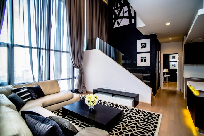 BKKMOVE Agency's 120sqm Spacious, Brand New Three Bedrooms Condo for rent at Urbano-Absolute Sathorn Taksin 14