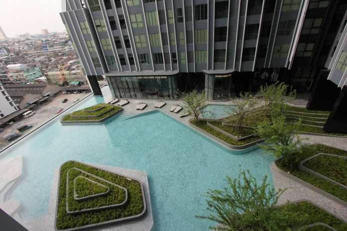 BKKMOVE Agency's 24sqm High Rise, Well price Studio Apartment for rent at Ideo Q Chula 2