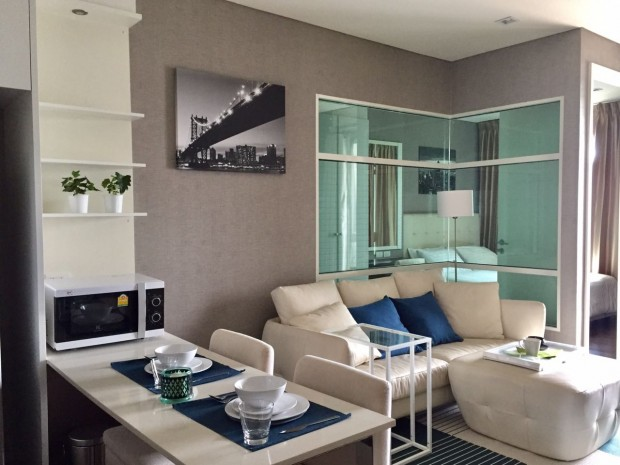 BKKMOVE Agency's Ivy Thonglor condo for rent well price!! spaious room 1bedroom 1bathroom 43sqm. 3