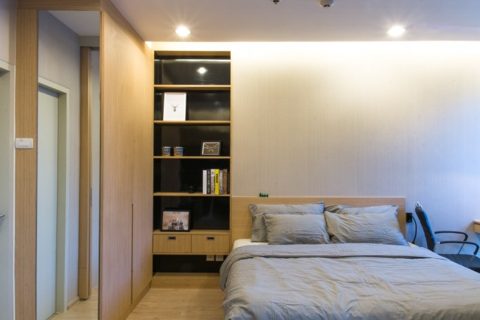 BKKMOVE Agency's Ideo Q Ratchathewi condo for rent well price!! spaious room 1bedroom 1bathroom 34sqm 4
