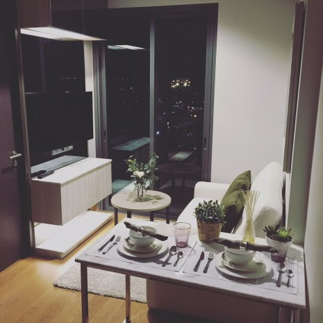 BKKMOVE Agency's 32sqm Convenient, Elegant One Bedroom Condo to let at The Lumpini 24 7
