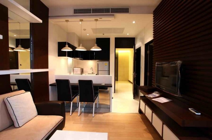 BKKMOVE Agency's 45sqm Good price!! Cozy Convenient One bedroom One bathroom One livingroom condo for rent at Eight Thonglor Residence 4