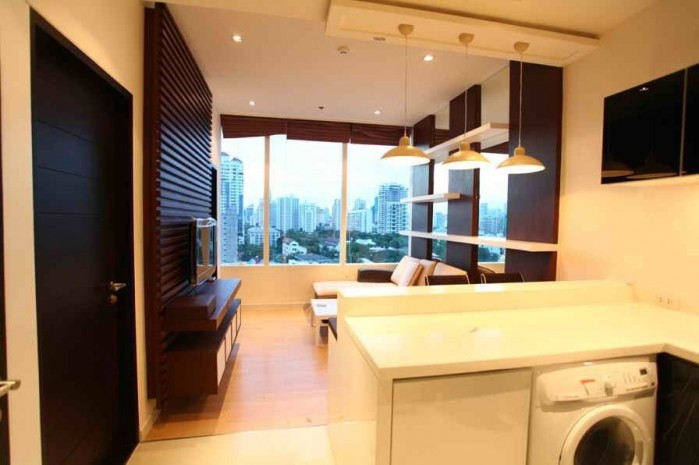 BKKMOVE Agency's 45sqm Good price!! Cozy Convenient One bedroom One bathroom One livingroom condo for rent at Eight Thonglor Residence 2