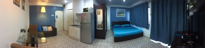 BKKMOVE Agency's 35sqm Good view! Good price! 1 bedroom 1 bathroom rent for Saranjai Mansion 2