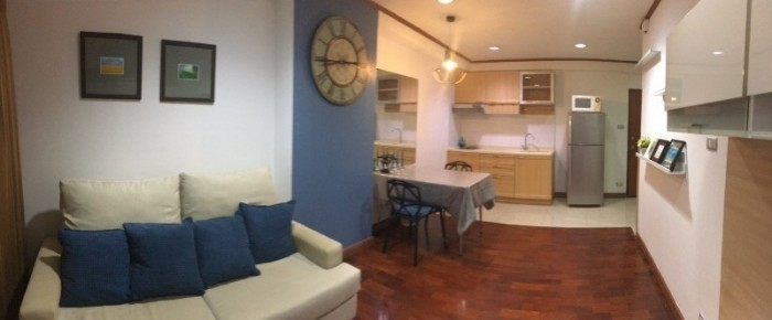 BKKMOVE Agency's 60sqm Well price!! Spacious Convenient 1bedroom 1bathroom for rent at Saranjai Mansion 6