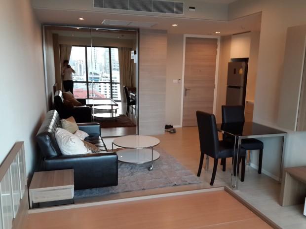 BKKMOVE Agency's The Room Sukhumvit 21 Condo ,Hight floor 36sqm Studio room 1 bedroom 1 bathroom fuily furnsh for rent well price! 10