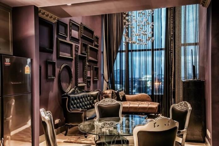 BKKMOVE Agency's The Emporio Place - Sukhumvit 24 Luxury 1 bed 1 bath Duplex 73 sqm Unblock View, High-end Location, building and Decoration. Rare Item. 8