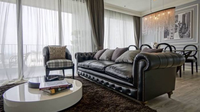 BKKMOVE Agency's The Emporio Place Luxury Penthouse Sukhumvit 24, top floor 3 beds/4 bath 170sqm(2 master bedrooms with bathtab come with his & her washbasin and walkin closet) 4