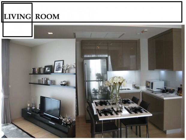 BKKMOVE Agency's 52sqm. Stylish, Luxury 1 bedroom condo for rent at Siri @ sukhumvit 5