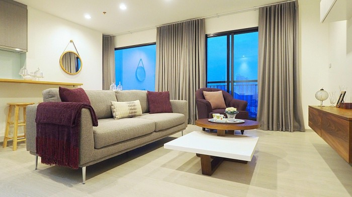 BKKMOVE Agency's Rhythm Sukhumvit 36-38 Brand new Very high floor  great view and openness fully Furnished with all amenities 88 sqm 2 bedroom 2 bathroom for rent well price!! 6